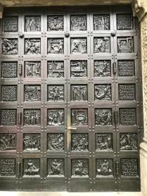 Bronze Door on Grossmünster Church