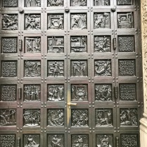 Bronze Door on Grossmünster Church