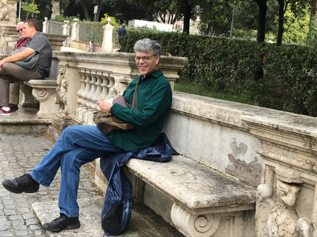 Paul is pleased that we found the Borghese Gallery and it stopped raining.
