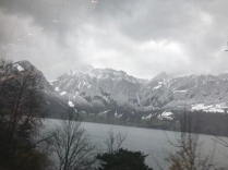 View from the train from Milan to Zurich